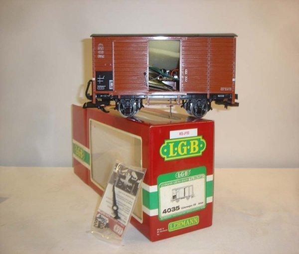 309: ABT: LGB #4035 Brown Guterwagen w/ Sound/OB