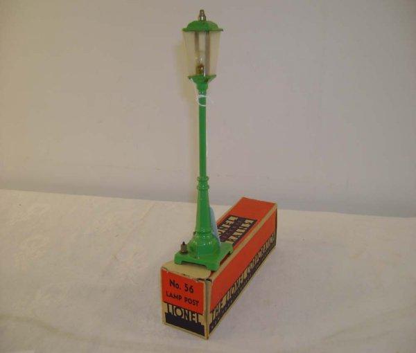 624: ABT: Great Lionel #56 Light Green Lamp Post/OB