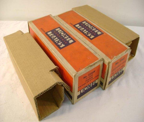 637: ABT: Nice Lionel #226E/2226W Original Boxes