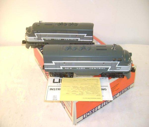 11: ABT: Mint Lionel #8370 NYC F-3 AA Diesels/OB