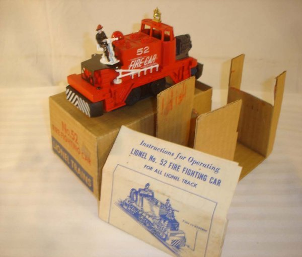 449: ABT: Great Lionel #52 Fire Fighting Unit/Brick OB+