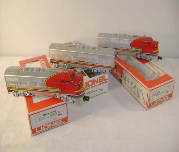 649: ABT: Lionel #8652/53/77 Red/Silver SF F-3 ABA/Obs
