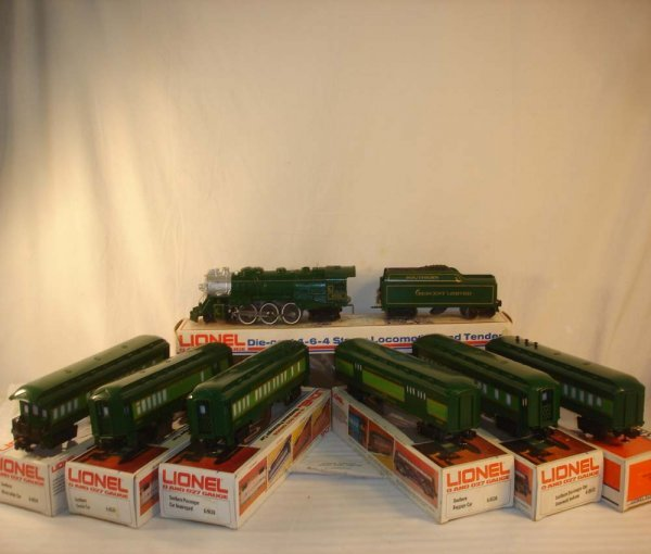 650: ABT: Lionel #8702 7pc Southern Crescent  Set/Obs