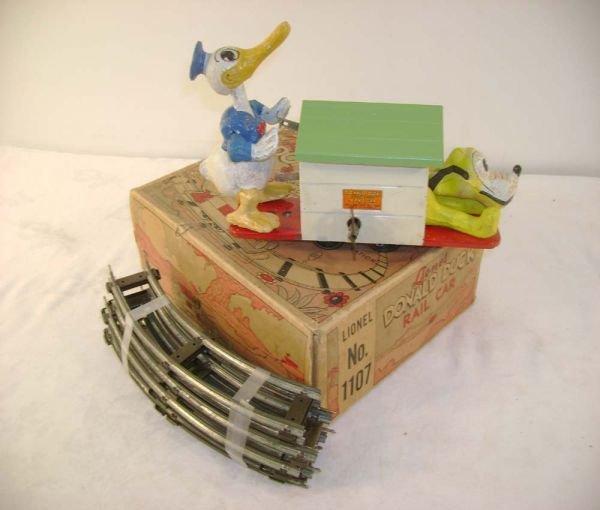 10: ABT: Lionel #1107 Donald Duck Oper. Hand Car/OB+