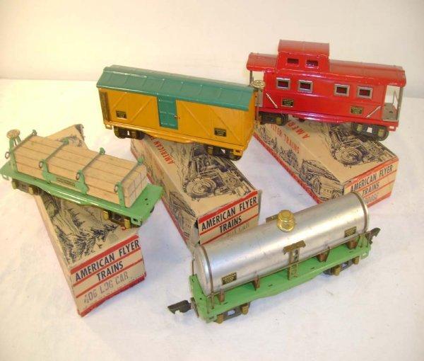 21: ABT: 4 Nice AF O Gauge Freight Cars/Obs
