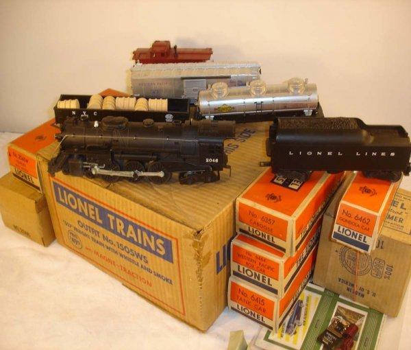 235: ABT: Mint Lionel #1505WS 1953 Freight Set/Obs