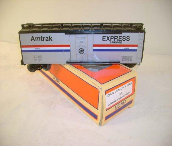 306: ABT: Mint Lionel #71998 LCCA Amtrak Baggage/OB