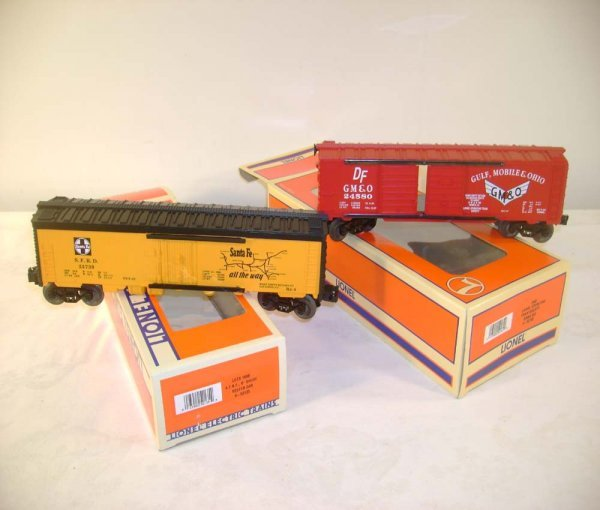 312: ABT: Lionel LOTS Cars: #52135 SF & #52162 GM&O /OB