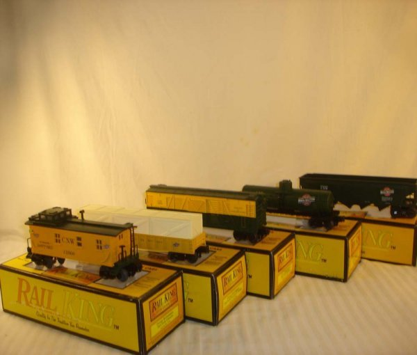 318: ABT: 5 MTH C&NW Semi-Scale Freight Cars:/OBs