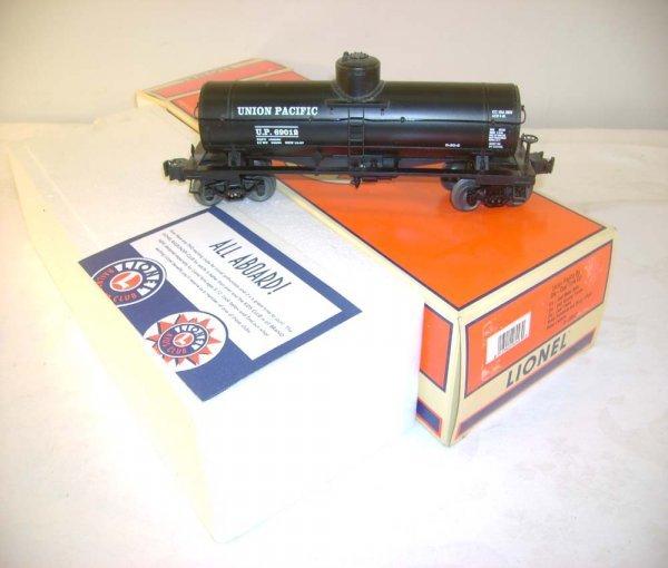 321: ABT: Lionel #26943 UP Diecast Tank Car/OB