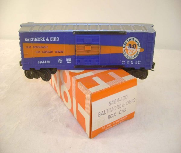 704: ABT: Lionel #6464-400 B&O Box Car/ Hillside OB