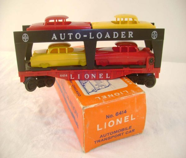 708: ABT: Lionel #6414-85 with Four Cheapie Autos/ OB