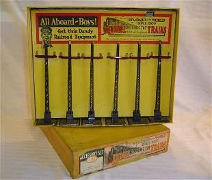 ABT7 Lionel #71 Telegraph Set (Dk Gray Poles)OB
