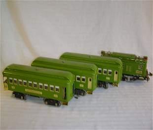 ABT12 Macy's Lionel #8E Pea Green/Cream w/Cars