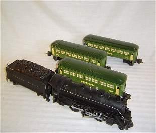 ABT14 Nice Lionel #140W 224 Green Passenger Set