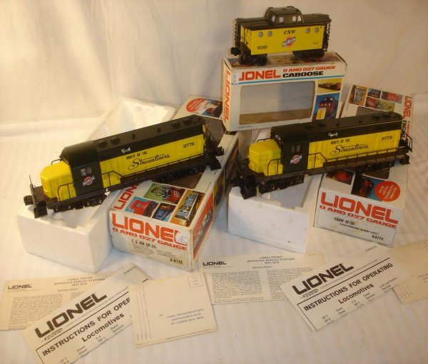 4: ABT: Lionel #8776/#8779 C&NW GP-20 & #9289 N5C /Obs