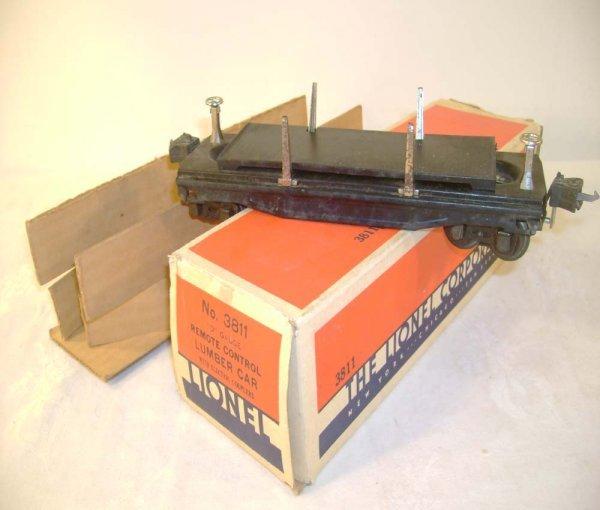 443: ABT: Lionel #3811 Oper. Lumber Car/Great OB+