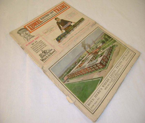 459: ABT: Scarce Lionel 1921 Color Catalog Folder