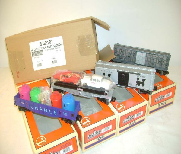 1308: ABT: Mint Lionel #52181 4 Pack of Monopoly Freigh