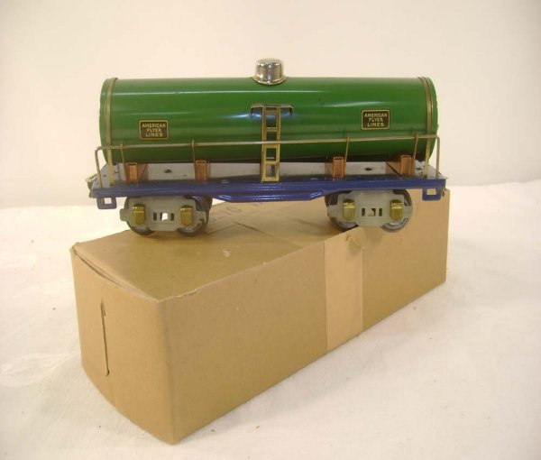 8: ABT: AF #3210 Green/Blue Tank Car/Brick OB