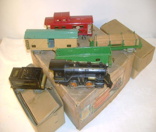 13: ABT: AF 6 Piece Steam Freight Set/Brick OBs
