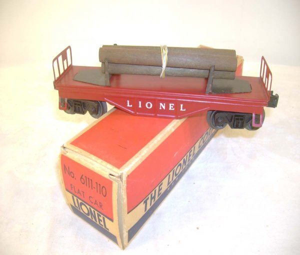 79: ABT: Scarce Lionel #6110-110 Maroon Log Car/OB