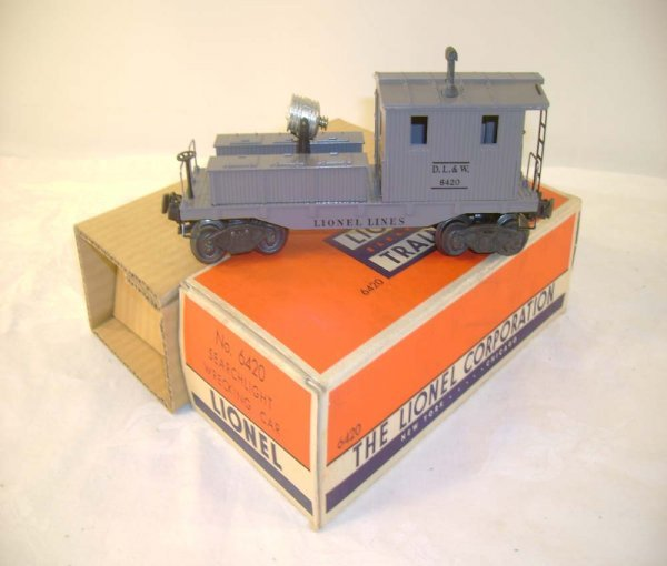 121: ABT: Lionel #6420 Work Caboose w/Searchlight/ OB+