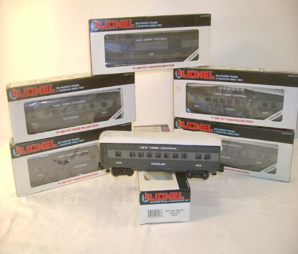 313: ABT: 6 Mint Lionel NYC Passenger Cars/OBs