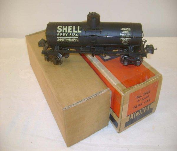 698: ABT: Lionel #2955 Shell Semi-Scale Tank Car/OB+