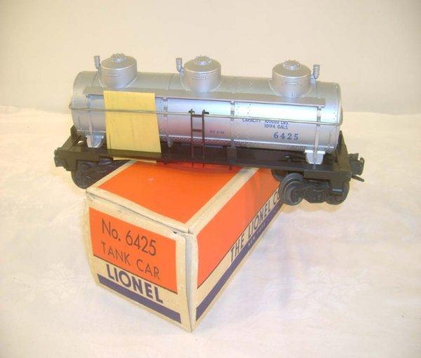 703: ABT: Lionel #6425 Gulf Three Dome Tank Car/OB