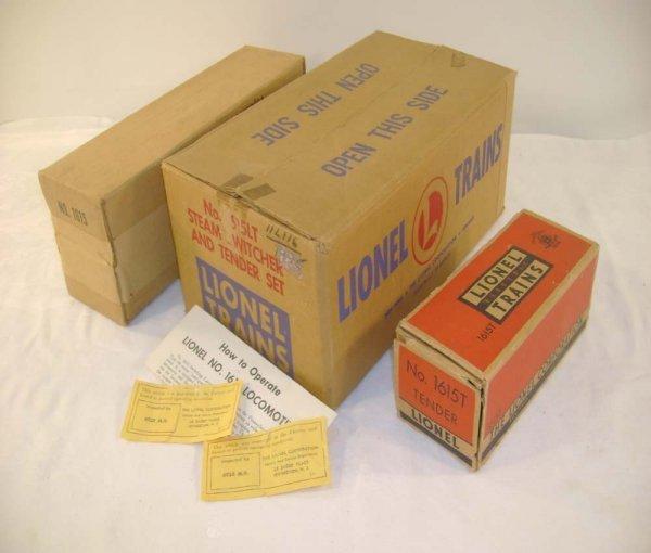 704: ABT: Lionel #1615LT/1615/1615T Original Boxes