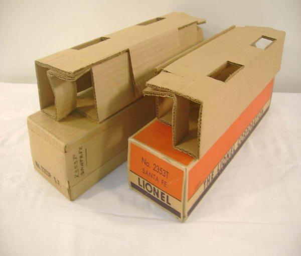 709: ABT: Lionel #2353P/T 1954 Santa Fe Original Boxes