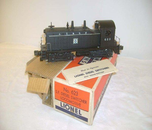 710: ABT: Lionel #623 ATSF Switcher/Brick OB+