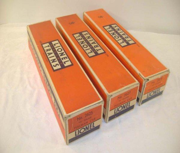 753: ABT: Lionel #2625/2627/2628 1950 Original Boxes