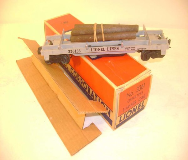 402: ABT: Lionel #3361 Separate Sale Log Car/Brick OB+