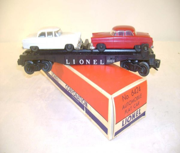403: ABT: Lionel #6424 Automobile Flat Car/Brick OB