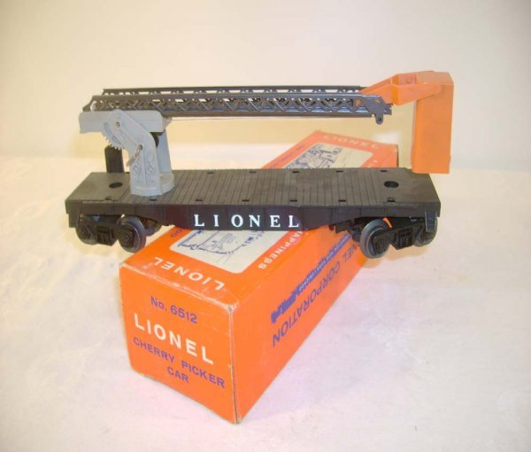 406: ABT: Lionel #6512 Operating Cherry Picker Car/ OB+