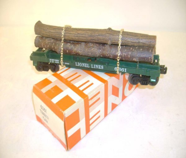407: ABT: Lionel #6361 Timber Car/Gold Chains/1969 OB