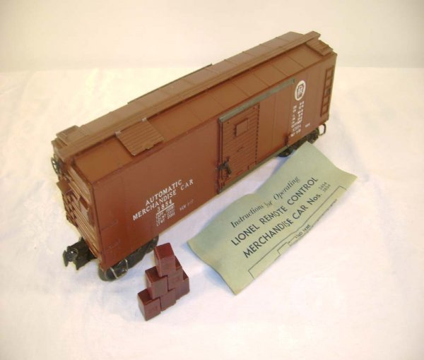417: ABT: Lionel #3854 Brown Doors Merchandise Car