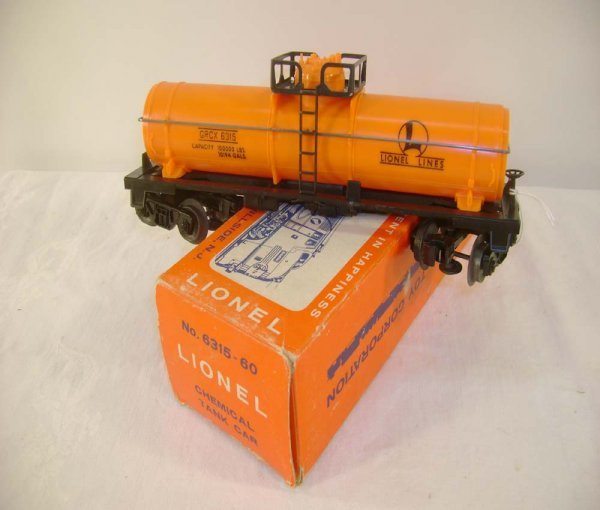 421: ABT: Lionel #6315-60 Orange LL Chemical/ Pix OB
