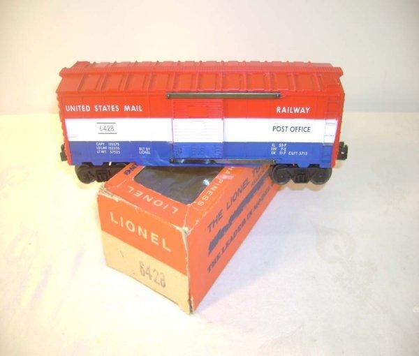 501: ABT: Lionel #6428 US Mail Box Car/66c OB