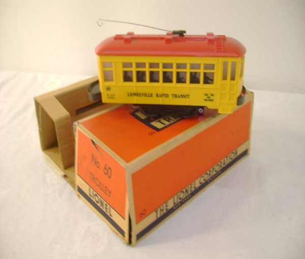509: ABT: Lionel #60 Trolley/Black Lettering/Early OB+