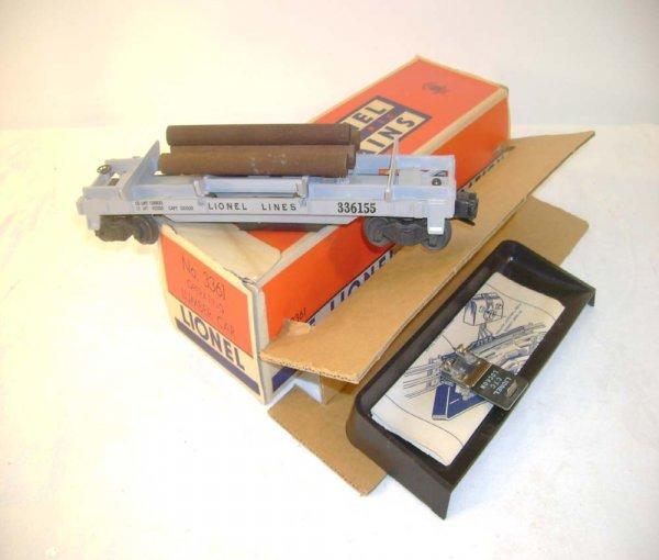 518: ABT: Mint Lionel #3361 Sep Sale Log Car/Brick OB+