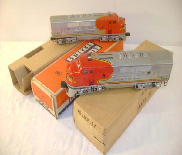 520: ABT: Lionel #2343 SF F-3 AA Diesels/Brick OBs+