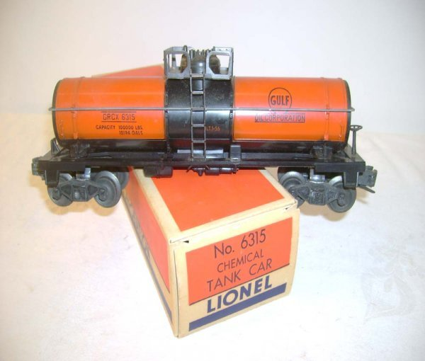 523: ABT: Lionel #6315 Orange/Black Gulf /Brick OB