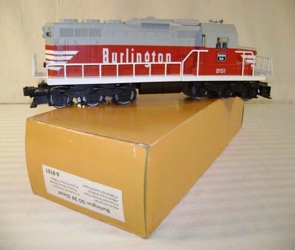 3: ABT: Lionel #8151 Burlington SD-28 Diesel/OB
