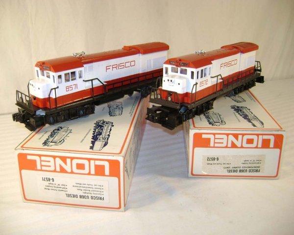 14: ABT: Lionel #8571/2 Frisco U36B Diesels/Obs