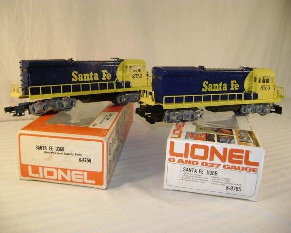 16: ABT: Lionel #8755/8756 SF U36B Diesels/Nice Obs