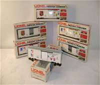 188 ABT 6 Mint Lionel Sports Box Cars with DecalsObs
