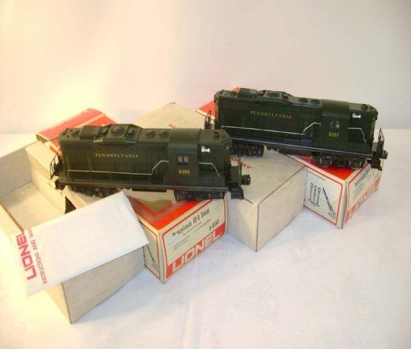 1301: ABT: Lionel #8357/8 Pennsylvania GP-9 Diesels/Obs